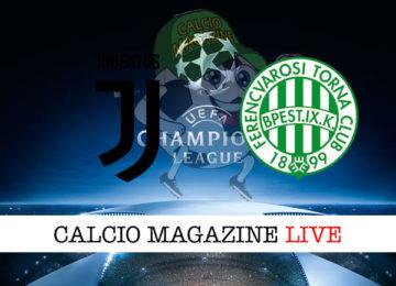 Juventus Ferencvaros cronaca diretta live risultato in tempo reale