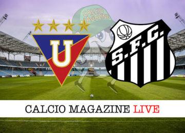 LDU Quito Santos cronaca diretta live risultato in tempo reale