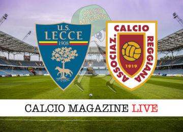 Lecce Reggiana cronaca diretta live risultato in tempo reale