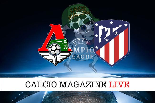 Lokomotiv Mosca Atletico Madrid cronaca diretta live risultato in tempo reale
