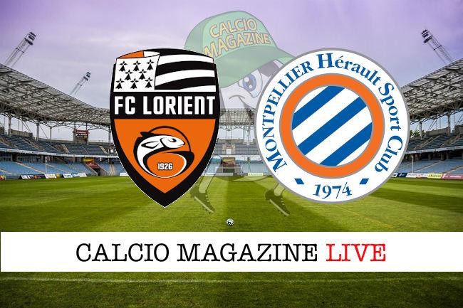 Lorient Montpellier cronaca diretta live risultato in tempo reale