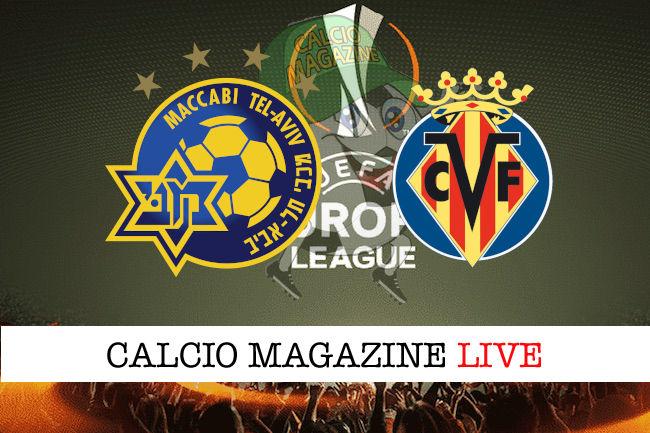Maccabi Tel Aviv Villareal cronaca diretta live risultato in tempo reale