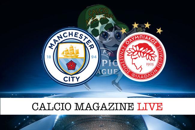 Manchester City Olympiacos cronaca diretta live risultato in tempo reale