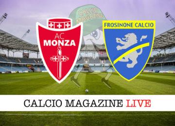 Monza Frosinone cronaca diretta live risultato in tempo reale