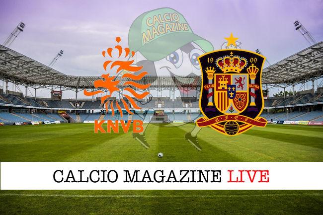 Olanda Spagna cronaca diretta live risultato in tempo reale