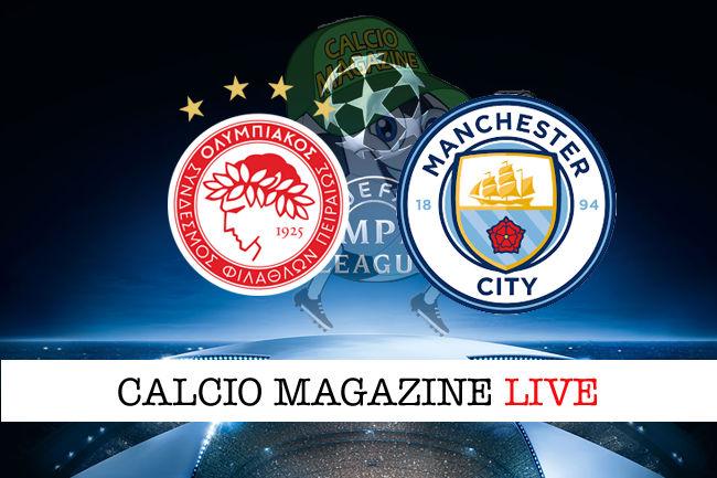 Olympiakos Manchester City cronaca diretta live risultato in tempo reale