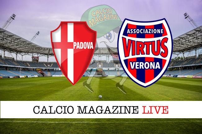 Padova Virtus Verona cronaca diretta live risultato in tempo reale