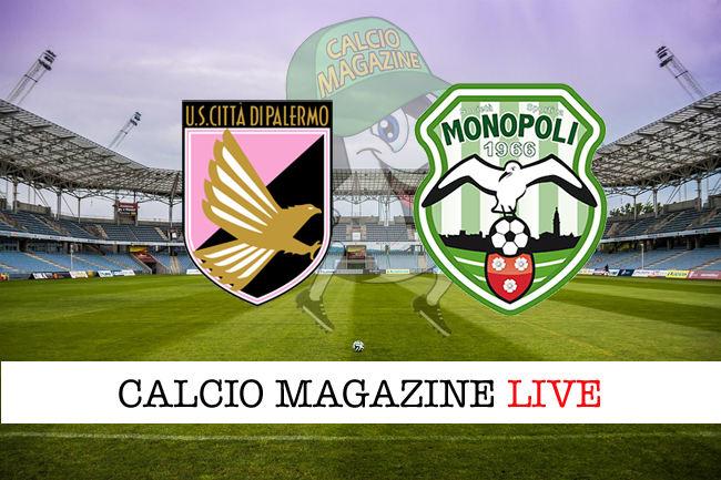 Palermo Monopoli cronaca diretta live risultato in tempo reale