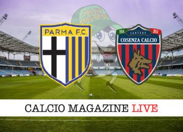Parma Cosenza cronaca diretta live risultato in tempo reale