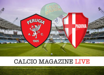 Perugia Padova cronaca diretta live risultato in tempo reale