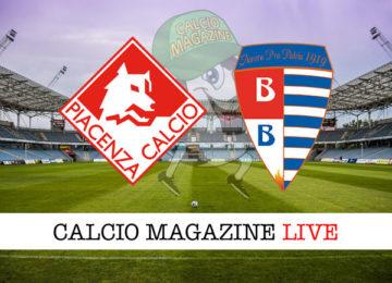 Piacenza Pro Patria cronaca diretta live risultato in tempo reale