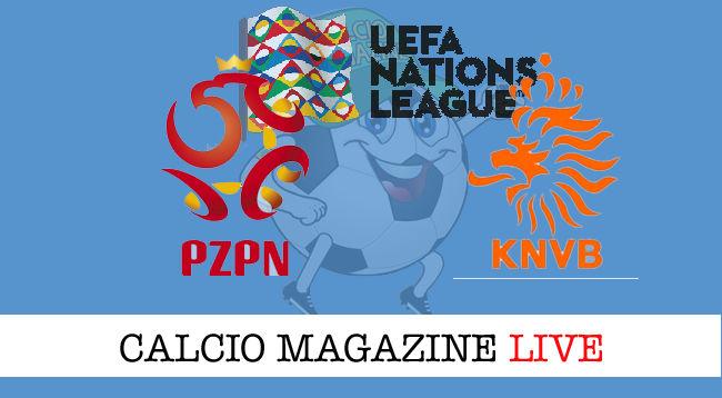 Polonia Olanda cronaca diretta live risultato in tempo reale