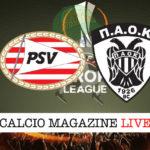 PSV Eindhoven Paok cronaca diretta live risultato in tempo reale
