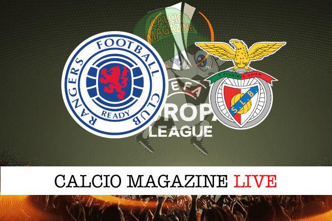 Rangers Benfica cronaca diretta live risultato in tempo reale