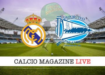 Real Madrid Alaves cronaca diretta live risultato in tempo reale