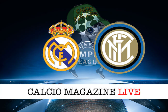 Real Madrid Inter cronaca diretta live risultato in tempo reale