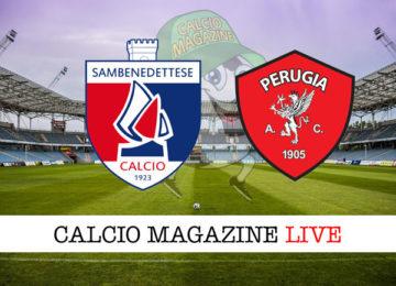 Sambenedettese Perugia cronaca diretta live risultato in tempo reale