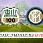 Sassuolo Inter cronaca diretta live risultato in tempo reale