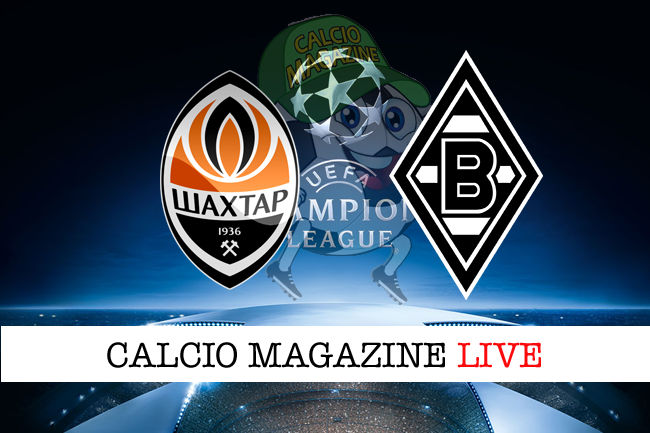 Shakhtar Donetsk Borussia-mgladbach cronaca diretta live risultato in tempo reale