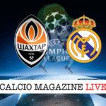 Shakhtar Donetsk Real Madrid cronaca diretta live risultato in tempo reale