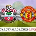 Southampton Manchester United cronaca diretta live risultato in tempo reale
