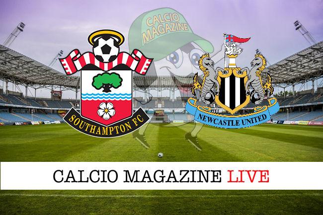 Southampton Newcastle cronaca diretta live risultato in tempo reale