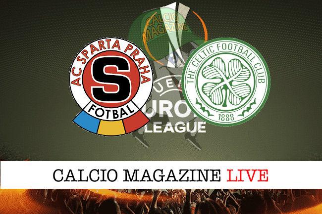 Sparta Praga Celtic cronaca diretta live risultato in tempo reale