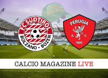 Sudtirol Perugia cronaca diretta live risultato in tempo reale