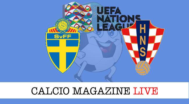 Svezia Croazia cronaca diretta live risultato in tempo reale