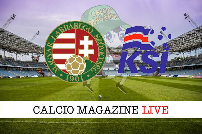 Ungheria Islanda cronaca diretta live risultato in tempo reale
