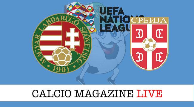 Ungheria Serbia cronaca diretta live risultato in tempo reale