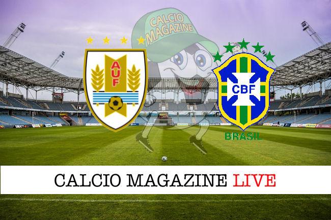 Uruguay Brasile cronaca diretta live risultato in tempo reale