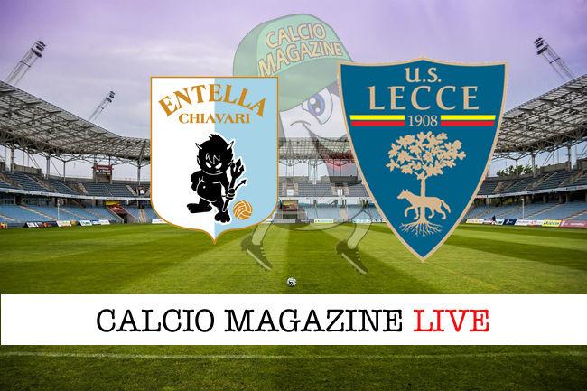 Virtus Entella Lecce cronaca diretta live risultato in tempo reale