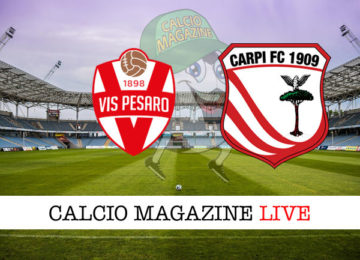 Vis Pesaro Carpi cronaca diretta live risultato in tempo reale