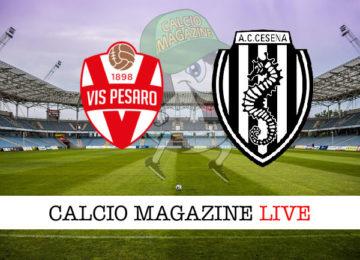 Vis Pesaro Cesena cronaca diretta live risultato in tempo reale