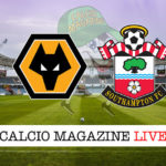 Wolverhampton Southampton cronaca diretta live risultato in tempo reale