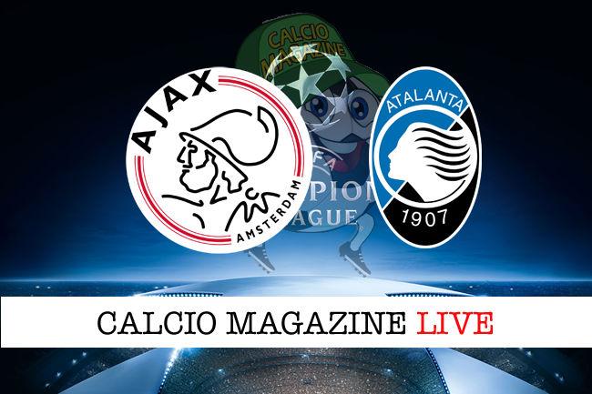 Ajax Atalanta cronaca diretta live risultato in tempo reale