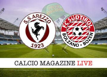 Arezzo Sudtirol cronaca diretta live risultato in tempo reale