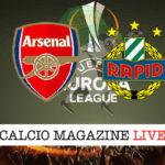 Arsenal Rapid Vienna cronaca diretta live risultato in tempo reale