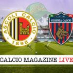 Ascoli Cosenza cronaca diretta live risultato in tempo reale
