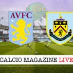 Aston Villa Burnley cronaca diretta live risultato in tempo reale