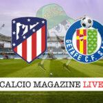 Atletico Madrid Getafe cronaca diretta live risultato in tempo reale