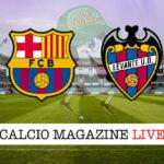 Barcellona Levante cronaca diretta live risultato in tempo reale