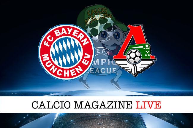 Bayern Monaco Lokomotiv Mosca cronaca diretta live risultato in tempo reale