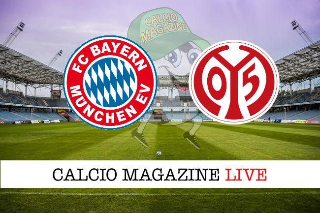 Bayern Monaco Mainz 05 cronaca diretta live risultato in tempo reale