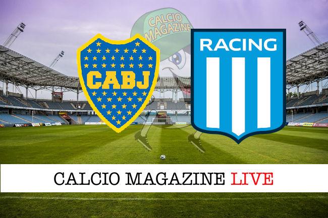 Boca Juniors Racing Club cronaca diretta live risultato in tempo reale