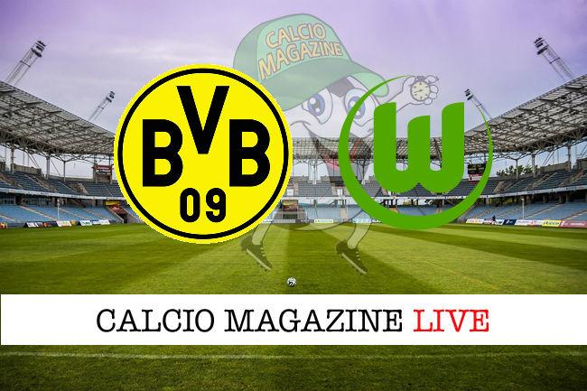 Borussia Dortmund Wolfsburg cronaca diretta live risultato in tempo reale