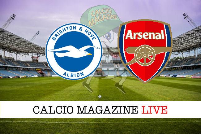 Brighton Arsenal cronaca diretta live risultato in tempo reale