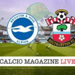 Brighton Southampton cronaca diretta live risultato in tempo reale