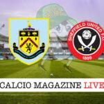 Burnley Sheffield United cronaca diretta live risultato in tempo reale
